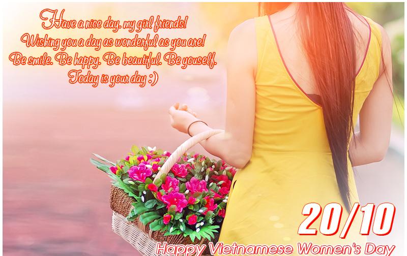 20 Hình Ảnh Chúc Mừng Ngày Quốc Tế Phụ Nữ Việt Nam 20/10 Độc