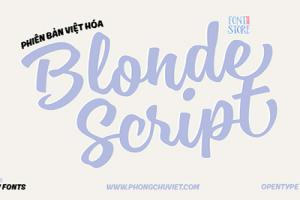 Chia sẻ font Script Blonde Script Việt hóa