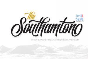Chia sẻ font Script The Southamton Việt hóa