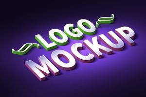 Chia sẻ psd mockup logo text 3d ấn tượng
