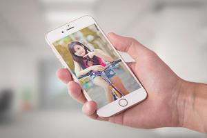 Chia sẻ psd mockup iphone 6 cầm tay