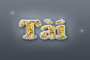 File psd hiệu ứng chữ kim cương ấn tượng