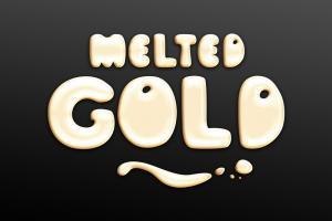 Chia sẻ file psd hiệu ứng chữ Melted GOLD