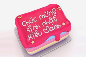 Phát sốt với hiệu ứng viết chữ lên bánh sinh nhật trực tuyến