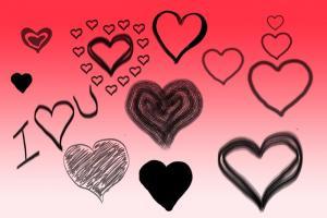 Chia sẻ bộ Brushes trái tim vẽ vằng tay