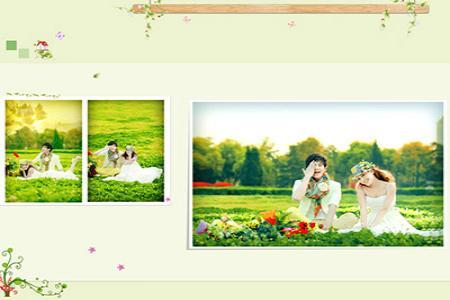 Mẫu psd thiết kế album ảnh cưới đẹp số 2