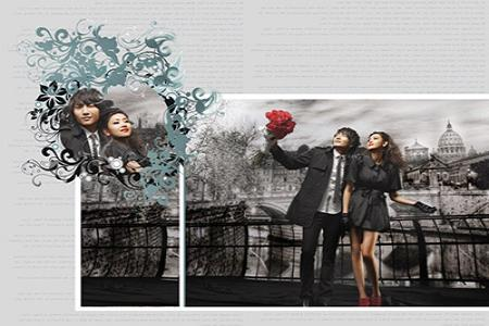 Mẫu thiết kế album ảnh cưới phong cách Hàn Quốc
