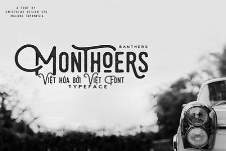 Chia sẻ font Script Monthoers Typeface Việt hóa