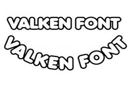 Chia sẻ font Valken miễn phí