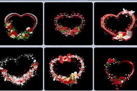 Chia sẻ 8 file png khung ảnh trái tim đẹp