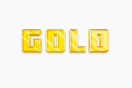 Hiệu ứng chữ gold 3d đẹp